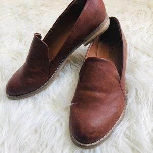 Indigo Rd. Brown Slip-On Loafer Flat Shoes